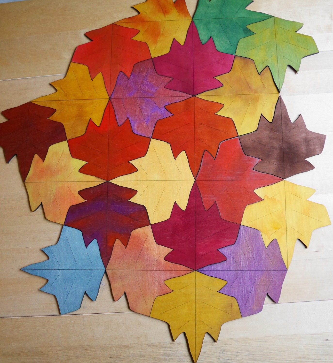 tessellating leaf coasters