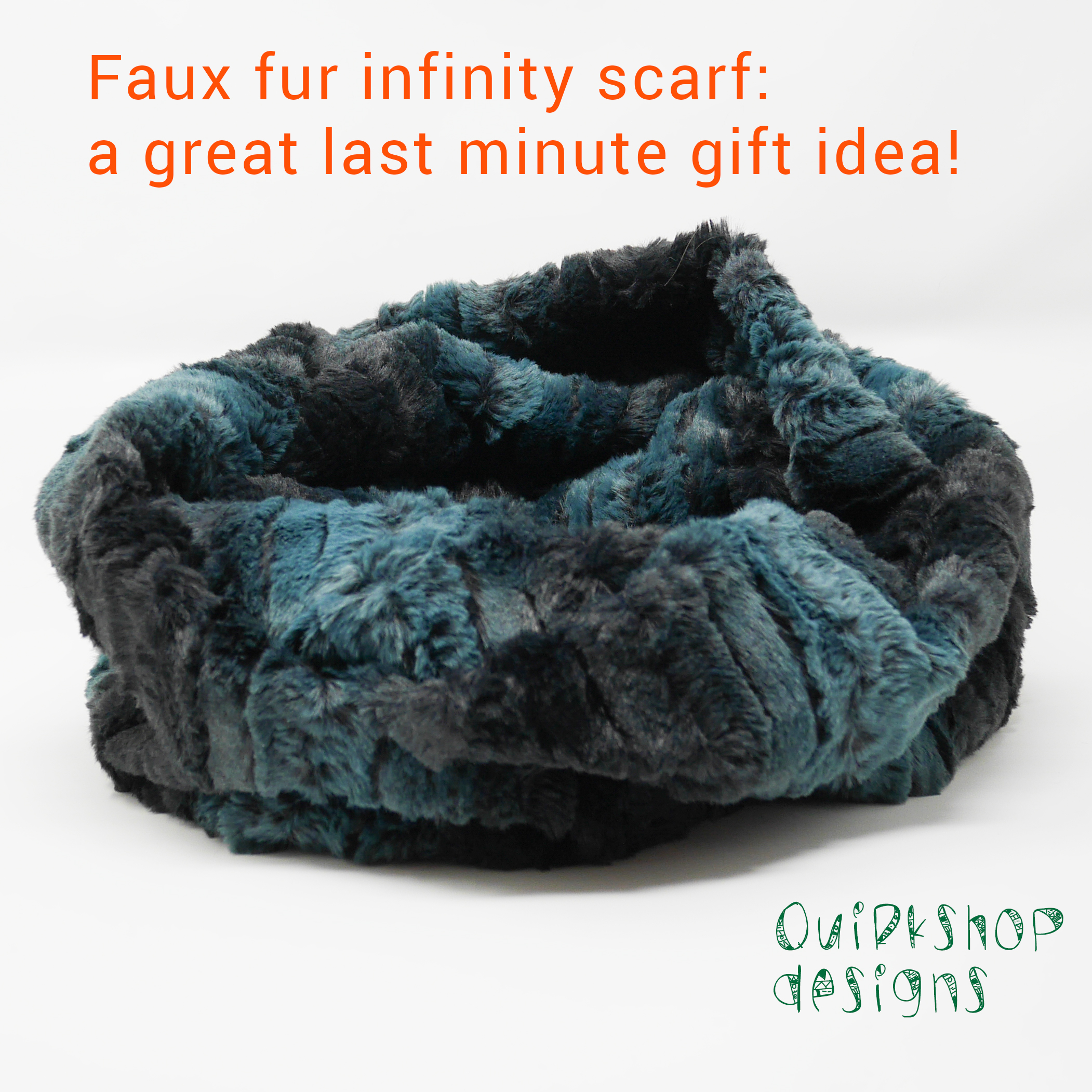 Faux fur scarf--a great last minute gift idea