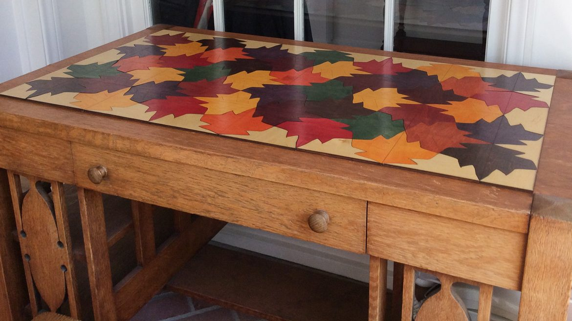 Tessellating Leaves Table Top Is Installed Quirkshop Design